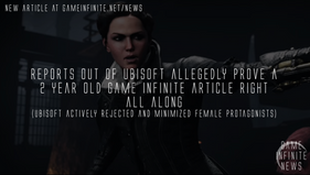 Reports out of Ubisoft prove a 2 year old Game Infinite article right all along - Ubisoft minimized