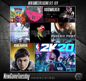 New Game Tuesday, Games Releasing 9/3 - 9/9