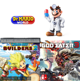 New Game Tuesday, Games Releasing  - 7/9 - 7/15