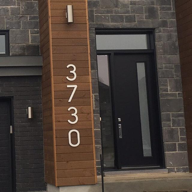 Large Modern Metal House Numbers