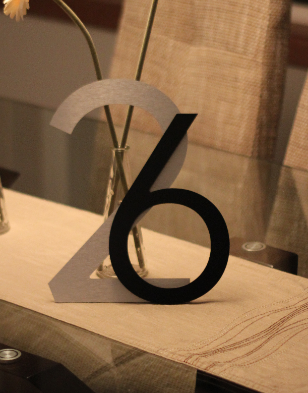 Large Modern Metal House Numbers