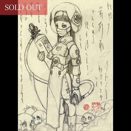 "Drawing ""Combat Medic (衛生兵)"""
