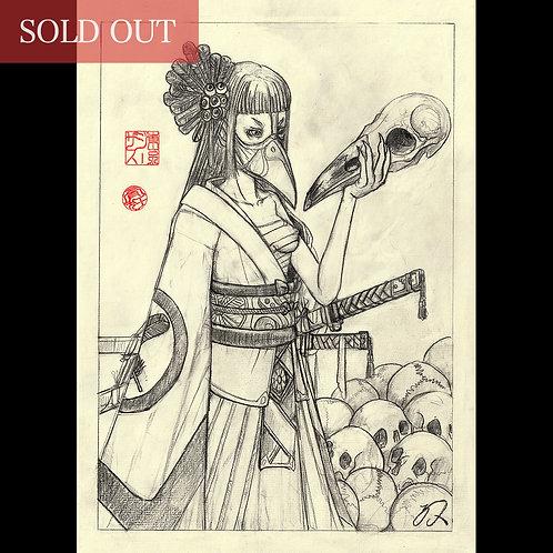 """Drawing """"Karasu Tengu  -烏天狗- """""""