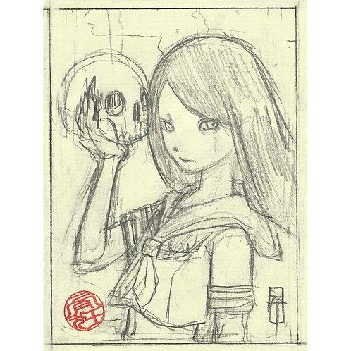 "Mini STUDY  ""Skull Girl"""