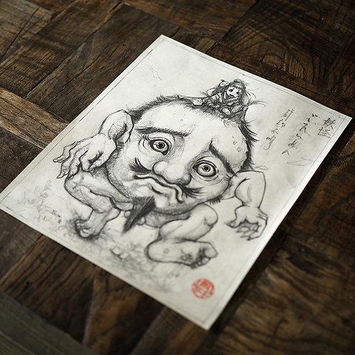 """Original Drawing """"Gotaimen"""""""