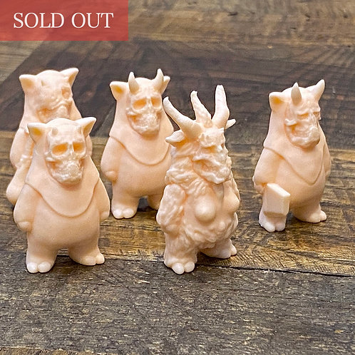 """GAKI"" Keshi set of 5 (Beige)"