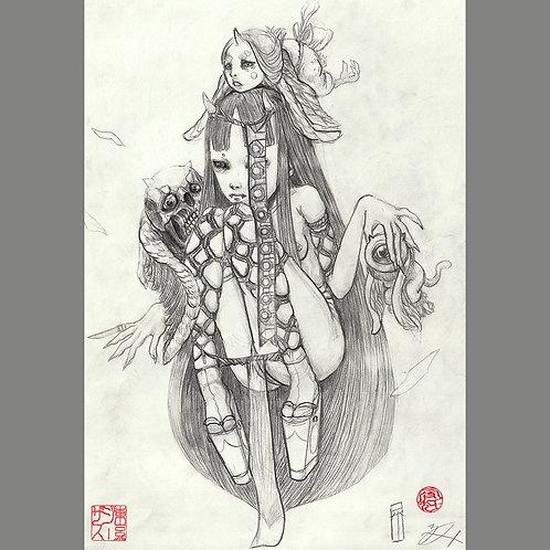 """Drawing """"Shibari Hime (Rope Bondage Princess)"""""""