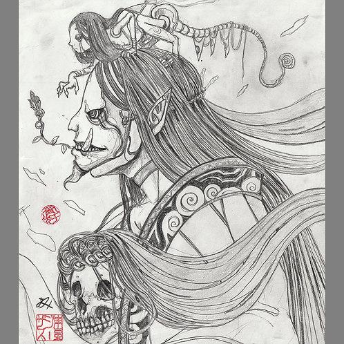 """Special drawing """"Hannya Princess"""""""
