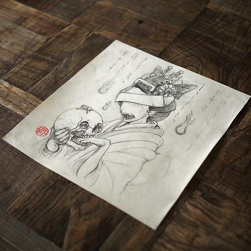 """Original Drawing """"Ohaguro Bettari"""""""