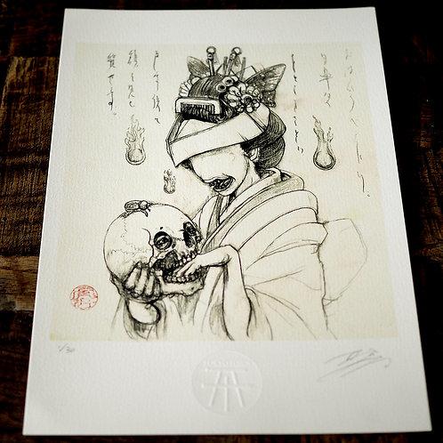 """Art Print """"Ohaguro Bettari"""""""
