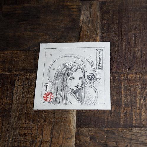 """MINI Original Drawing """"Ectoplasm 1"""""""