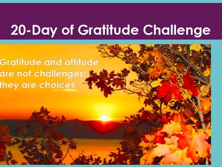 20-Day of Gratitude Challenge