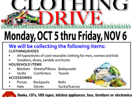 Class of 2021 Clothing Drive