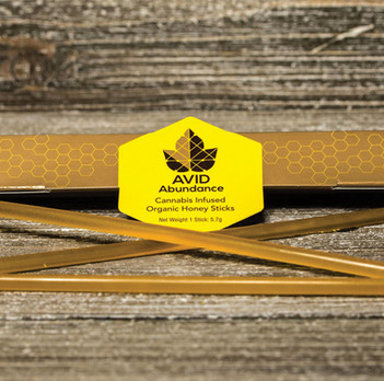 Avid Abundance Honey Sticks Packaging