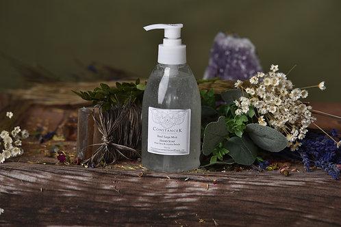 Basil Sage & Mint Hand Soap with Aloe Vera & Jojoba Beads