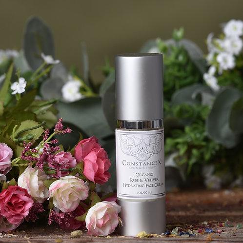 Rose Geranium & Vetiver Organic Face Cream