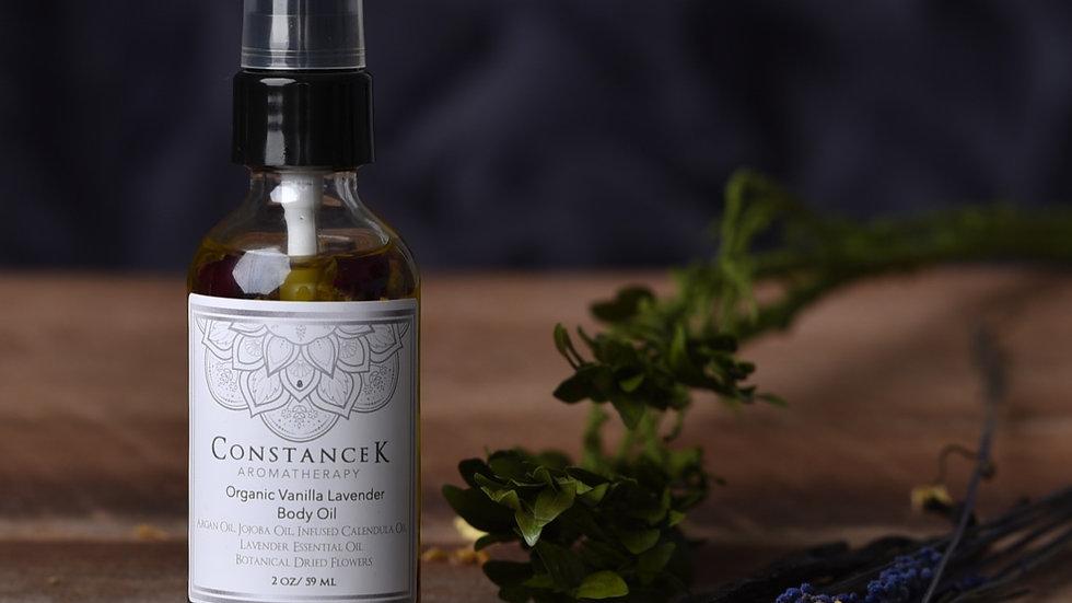 """Body Oil  - Vanilla Lavender """"Organic"""""""
