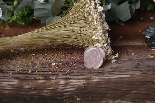 """Rose Quartz Flower Natural Stone """"Smaller"""""""
