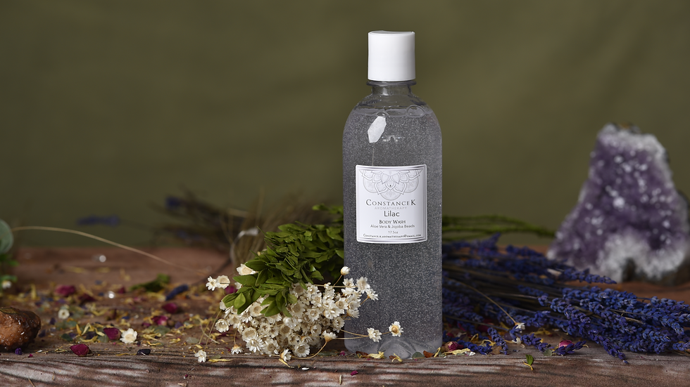 Lilac Body Wash with Aloe Vera & Jojoba Beads
