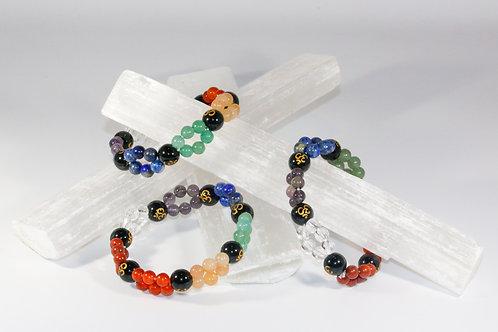 7 Chakra Double Lined Bracelet
