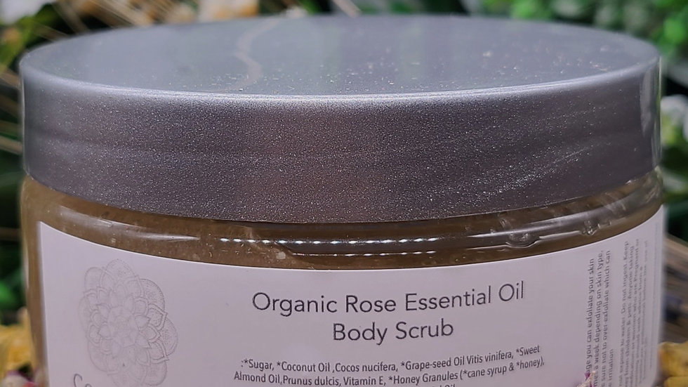 Body Scrub Rose Geranium Organic