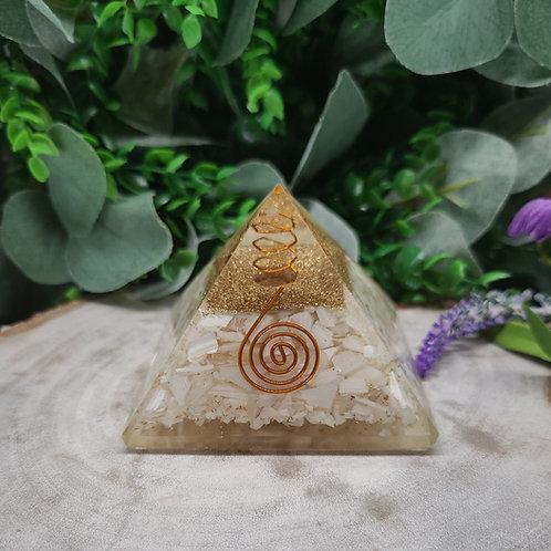 Mother of Pearl Orgonite Pyramid