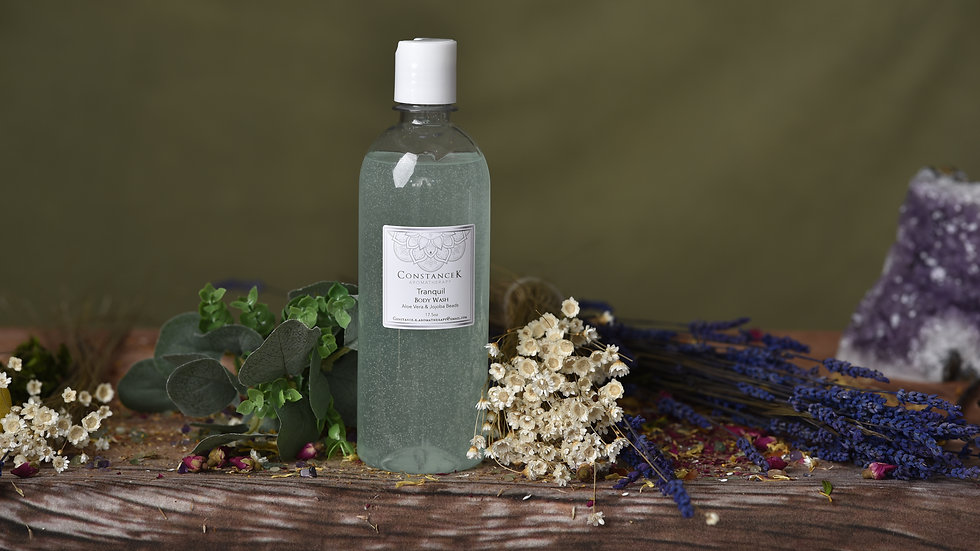 Tranquil  Body Wash with  Aloe Vera & Jojoba Beads