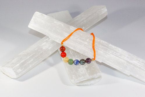 7 Chakra Natural Stone Reiki Thread Bracelet