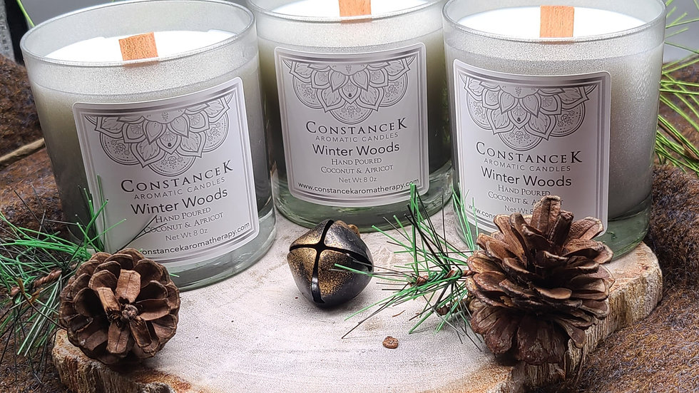 Winter Woods Candle Silver