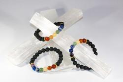 7 Chakra Lava Bracelet