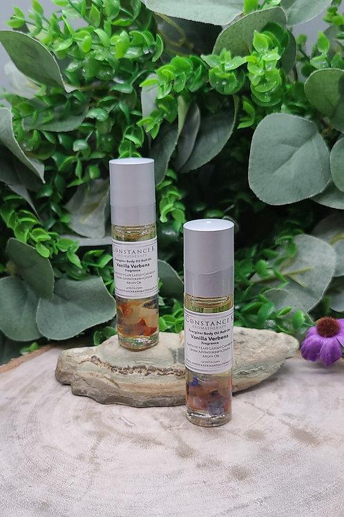 Energizer Roll-On Body Oil Vanilla Verbena  Multi Crystals