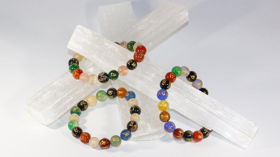 Om Mani Padme Hum Engraved Bracelet