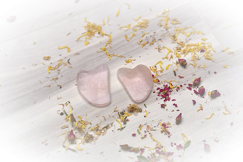 Rose Quartz Guasha Stone for Facial & Massage Tool