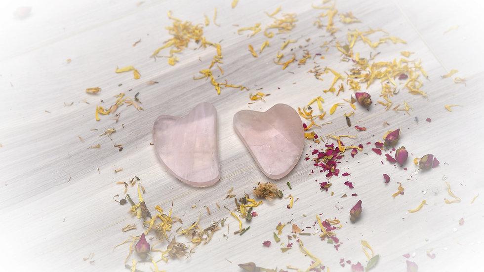 Rose Quartz Guasha Stone for Facial & Massage Tool