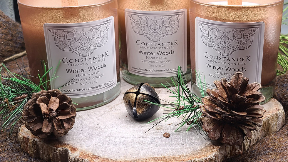 Winter Woods Candle Rose Gold