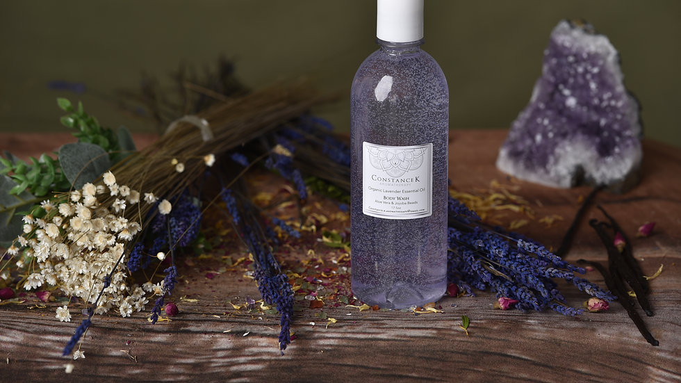 Organic Lavender Body Wash w/ Aloe & Jojoba Beads