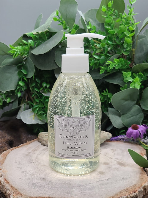 Lemon Verbena Hand Soap with Aloe Vera & Jojoba Beads