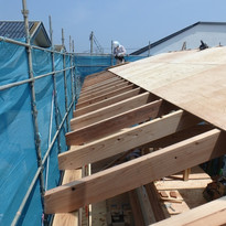 屋根工事【海の近く,家族の時間を楽しむ家】