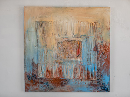 Untitled, 100 x 100 cm, mixed media on Canvas