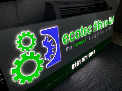 LED Back lit sign