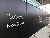Solology Store Rugby black out installed by branded signs Glossop
