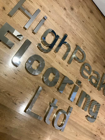 30mm Stainless Laser cut Lettering
