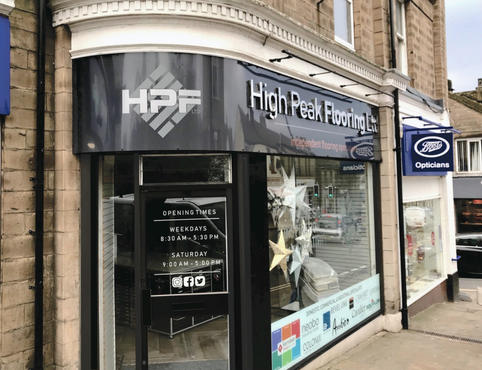 High Peak Flooring Signage