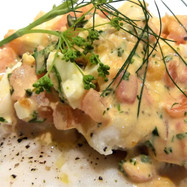 Pine Nut, Lemon and Parsley Crusted Cod