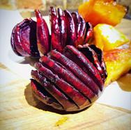 Roast Hasselback Beetroot