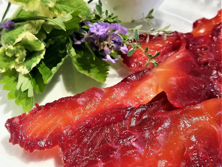Beetroot And Vodka Cured Salmon