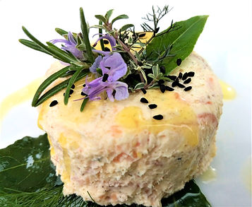 Smoked Salmon Custard