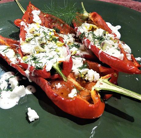 Roast Romano Peppers with Cherry Tomatoe