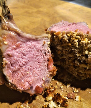 French Trimmed Rack of Lamb with a Parme
