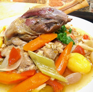 All in One Pot Shoulder of Pork with Vegetables and Pearl Barley